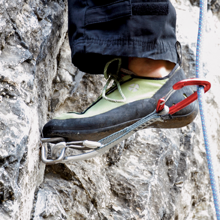 Standing on a bolt. Photo: David Simmonite
