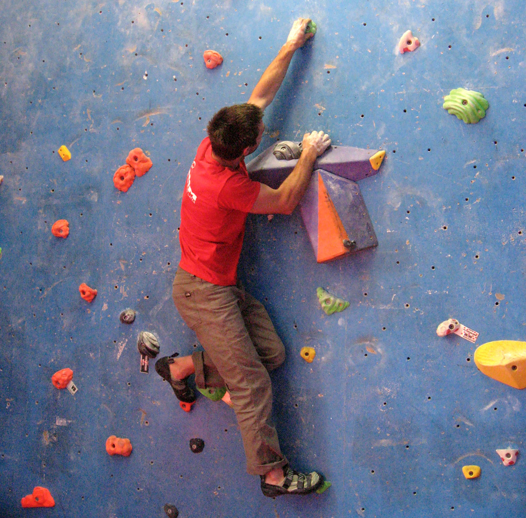 Rainbow climbing allows the climber to be in total control of hold and move choice.