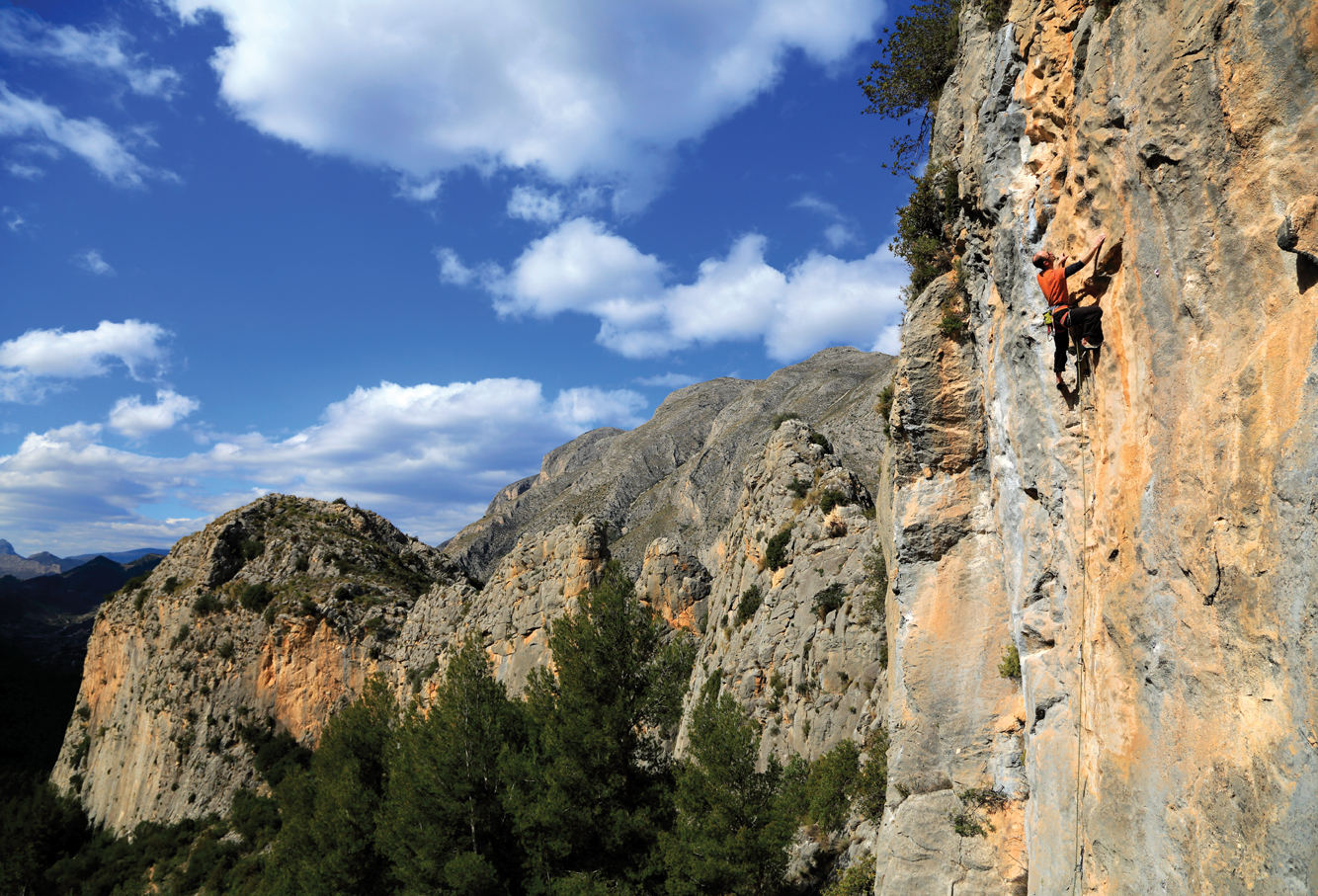 What a stunning place; Bear Essentials (F6b) on the newly developed Bear Sector at Sella. Photo: David Simmonite