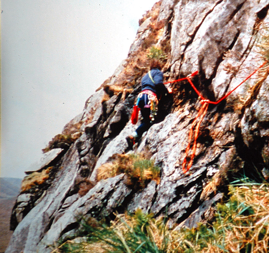 Early days out climbing in Poisoned Glen. Photo: Niall Grimes