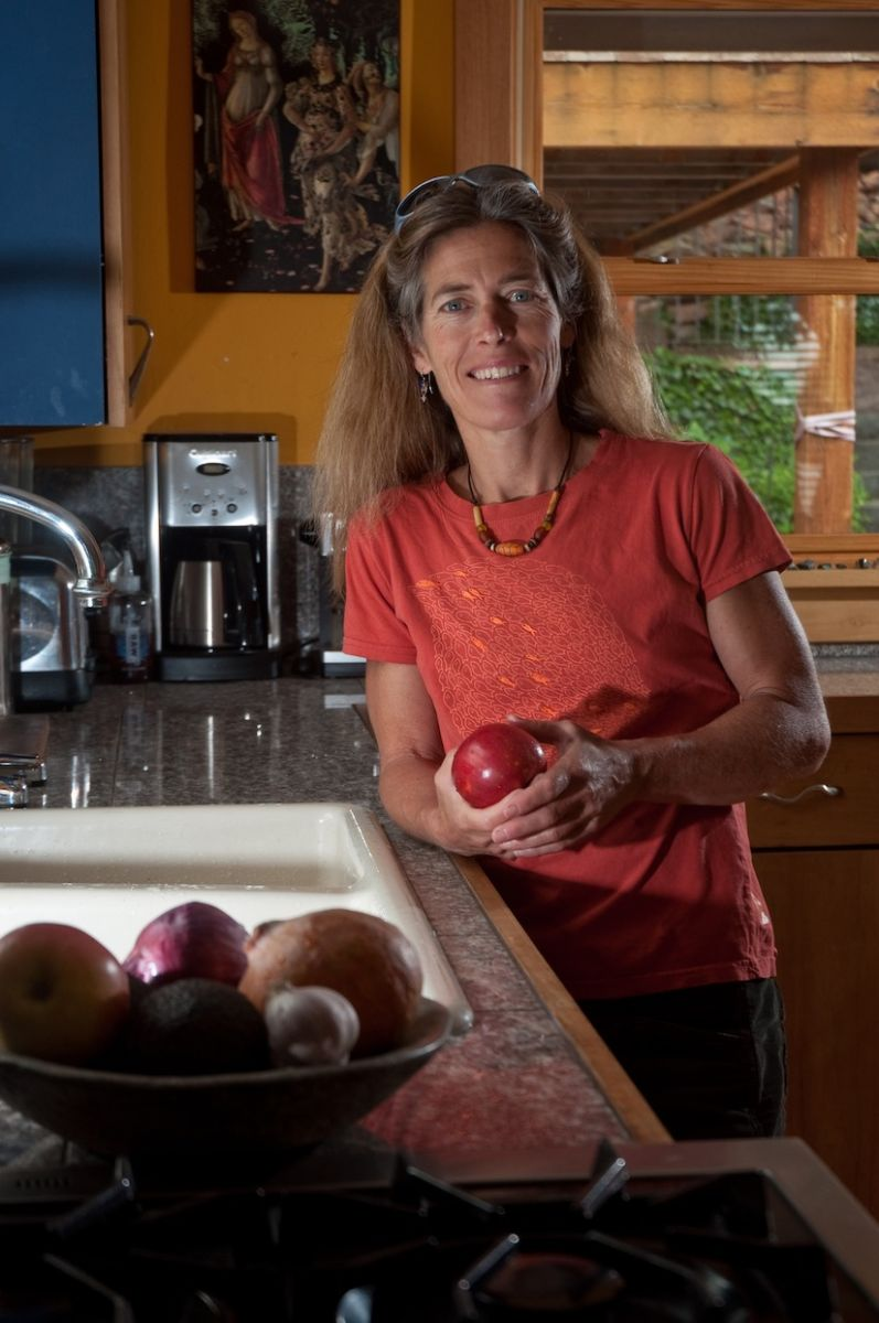 Lynn Hill at home in Boulder, Colorado. Photo: Andy Mann