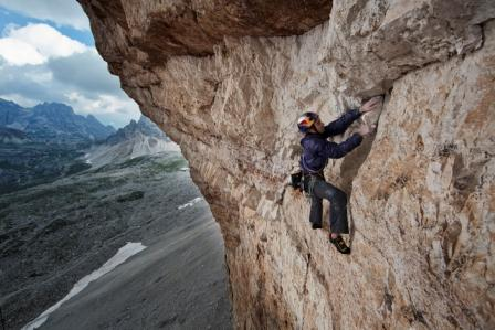 Eneko Pou on Panaroma in the Dolomites. Photo: Damiano Levati / The North Face