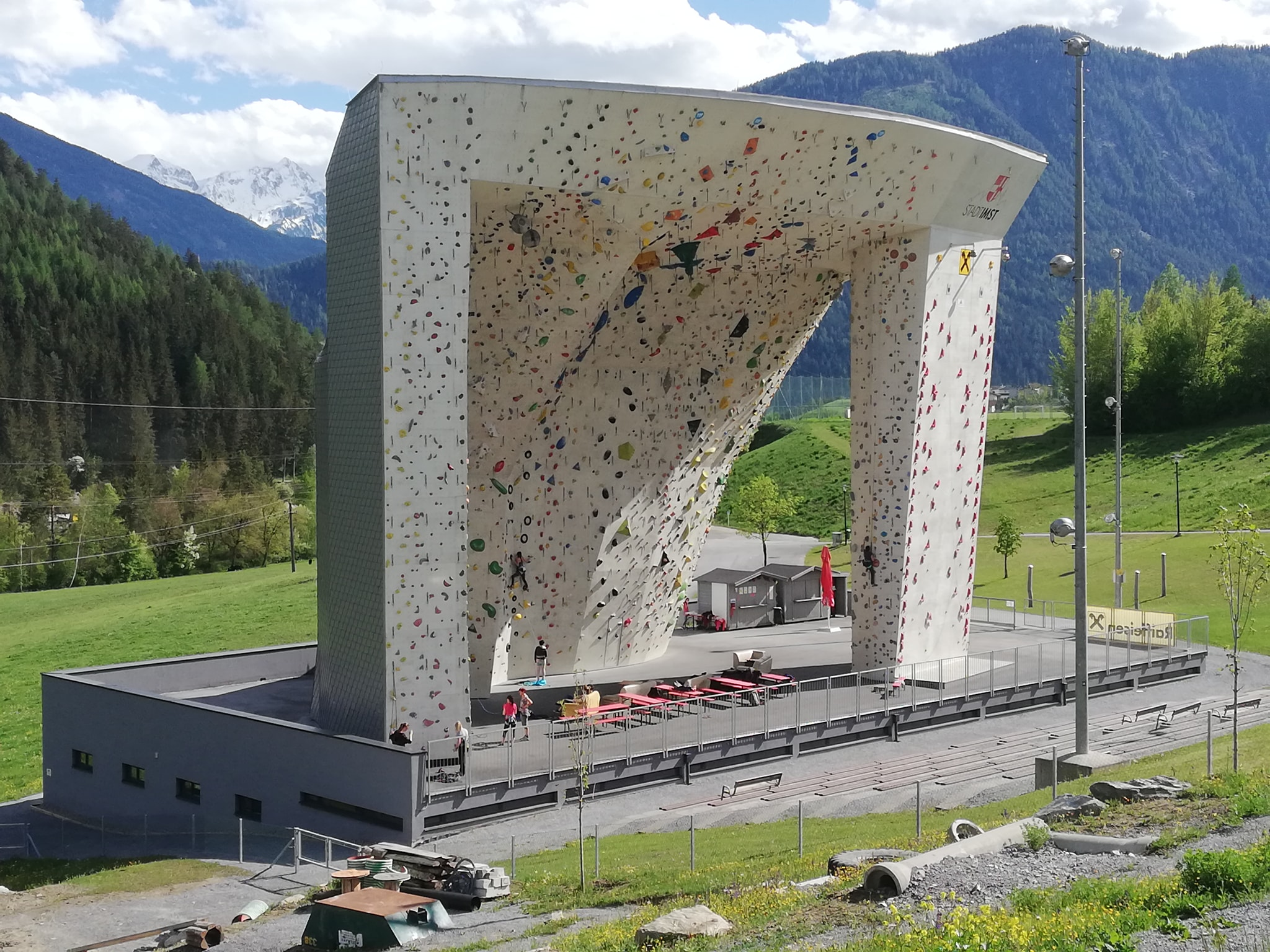 The outdoor wall at Kletterzentrum Imst in Austria reopened at the beginning of May. Photo: Kletterzentrum Imst
