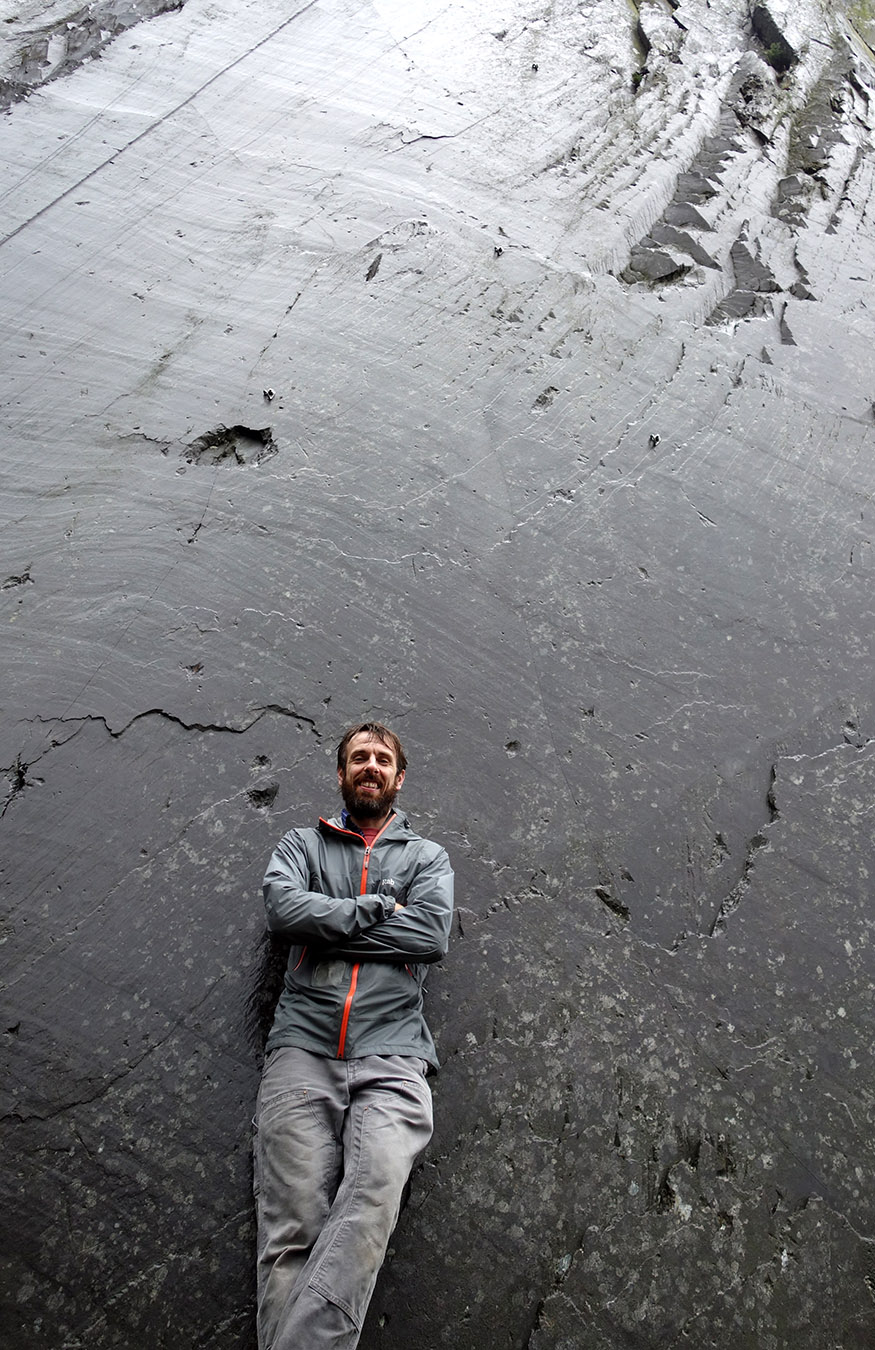 Peter Goulding in the Llanberis Slate Quarries.