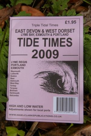 A typical tide timetable; understand and know your tides well! Photo: Mike Robertson