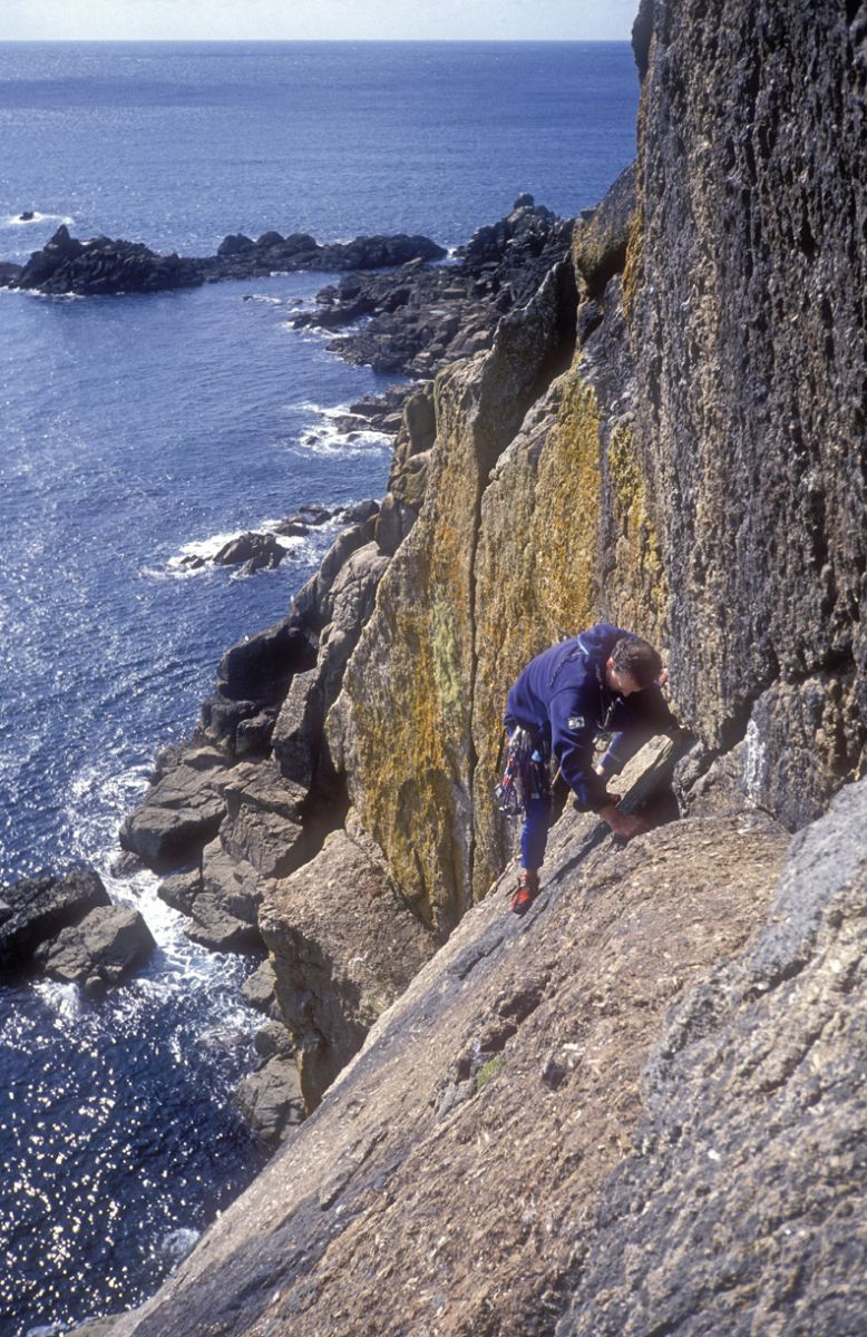 The brilliant, though sadly short-lived, slab of pitch 4 of Pegasus. Photo by Ian Smith