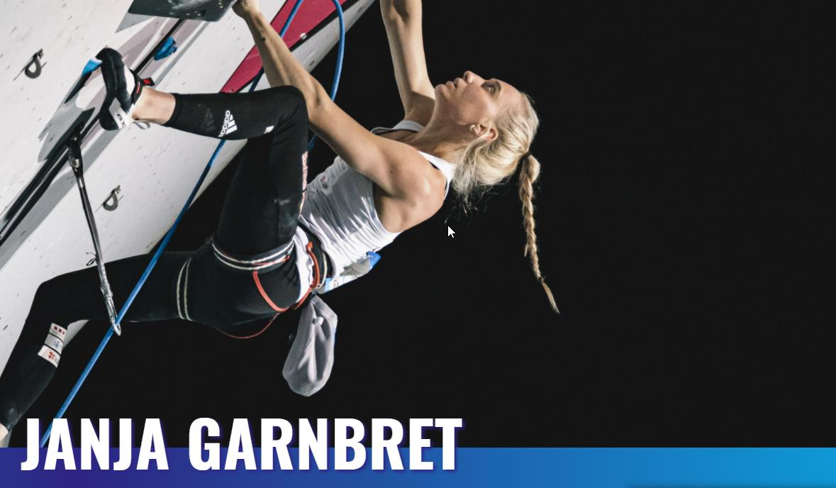 Janja Garnbret qualified for the finals in first place despite shakey performances in both speed and lead
