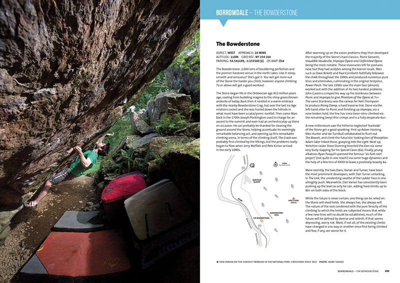 Another sample page of the Bowderstone area from Lake District Bouldering.