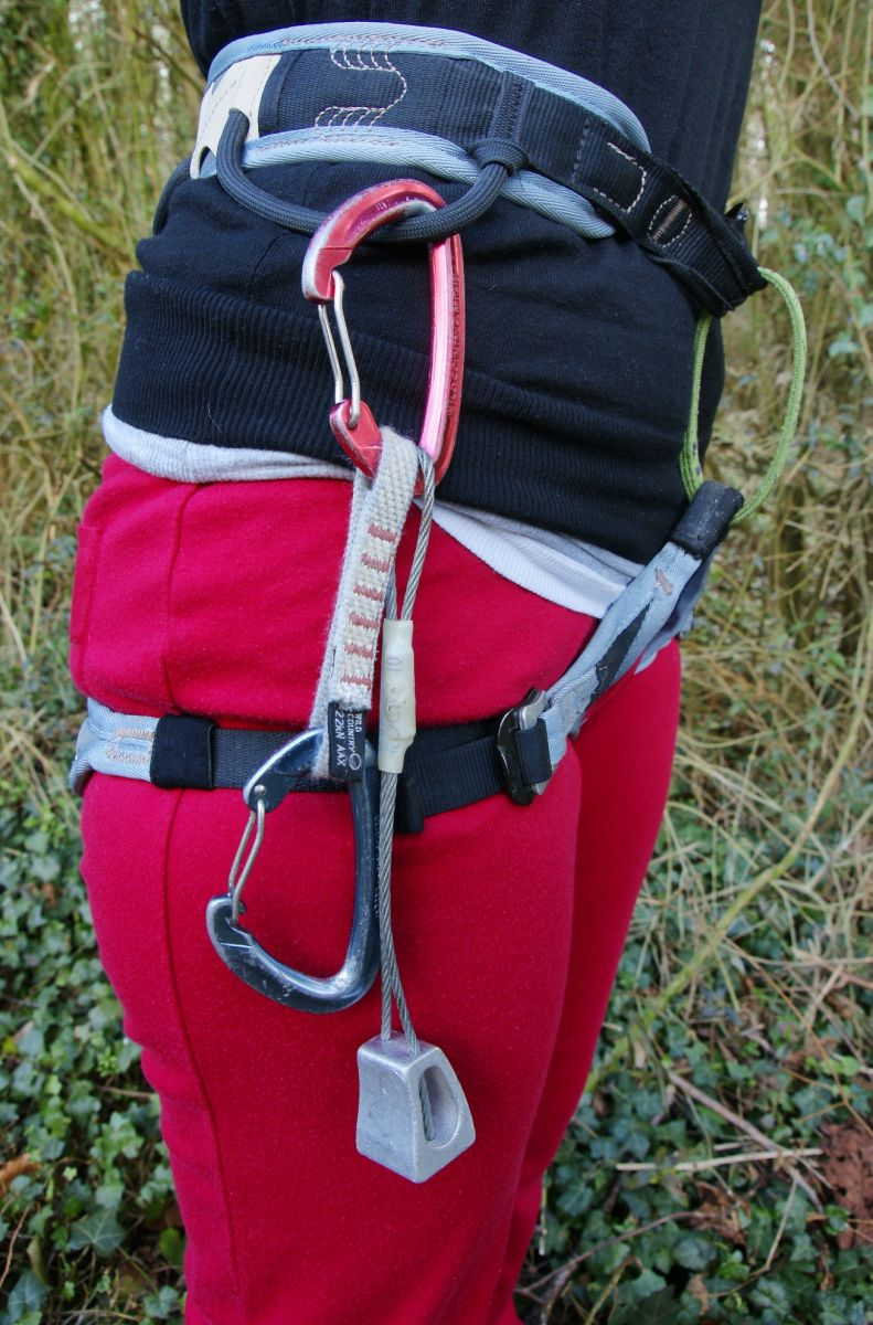 How to rack gear on your harness. Photo: Mike Robertson